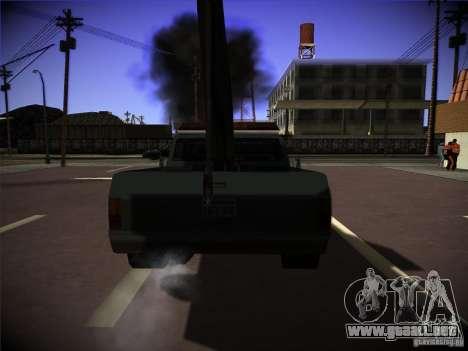 Camión de remolque Sadler para GTA San Andreas vista posterior izquierda