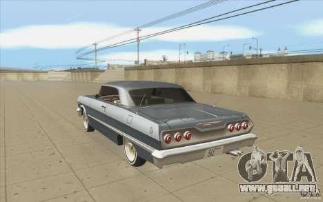 Voodoo para GTA San Andreas vista posterior izquierda