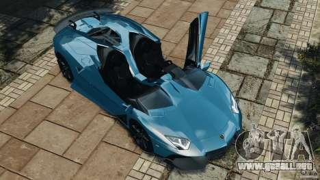 Lamborghini Aventador J 2012 v1.2 para GTA 4 vista superior