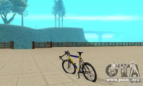Racing Cycle Turmac Legnano para GTA San Andreas vista posterior izquierda
