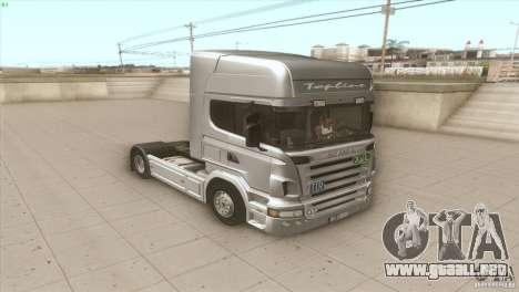 Scania V8 para la visión correcta GTA San Andreas