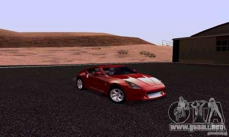 Nissan 370Z para GTA San Andreas vista hacia atrás