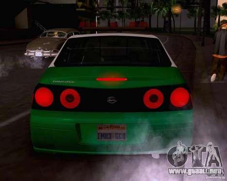 Chevrolet Impala 2003 VCPD police para la visión correcta GTA San Andreas