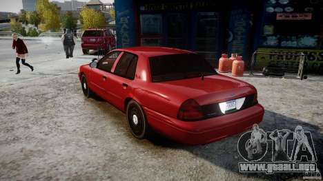 Ford Crown Victoria Detective v4.7 red lights para GTA 4 Vista posterior izquierda