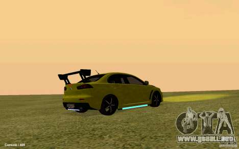 Mitsubishi Lancer Evolution Drift para GTA San Andreas vista posterior izquierda