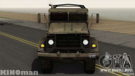 AM General m-939A2 1983 para GTA San Andreas vista posterior izquierda