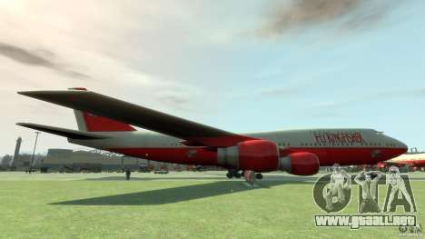 Fly Kingfisher Airplanes with logo para GTA 4 left