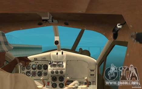 De Havilliand Beaver DHC2 para visión interna GTA San Andreas