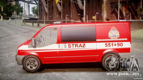 Ford Transit Polish Firetruck [ELS] para GTA 4 left