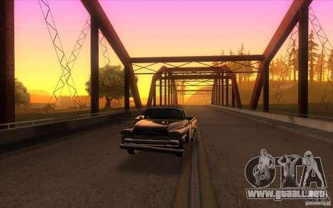 Chevrolet Apache Fleetside 1958 para GTA San Andreas vista hacia atrás
