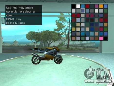 Salón del automóvil para GTA San Andreas quinta pantalla