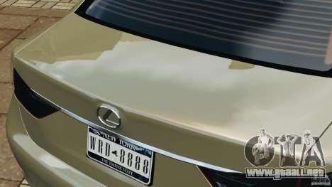 Lexus GS350 2013 v1.0 para GTA 4 interior