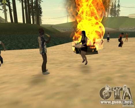 Fiesta de la naturaleza para GTA San Andreas octavo de pantalla