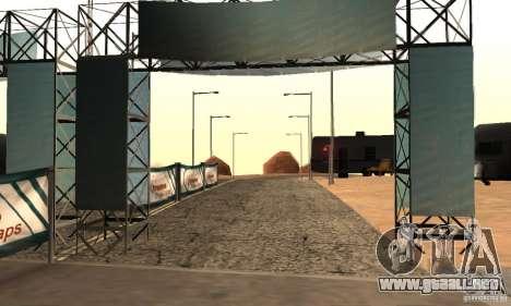 Pista para la deriva, el Big Ear v1 para GTA San Andreas segunda pantalla