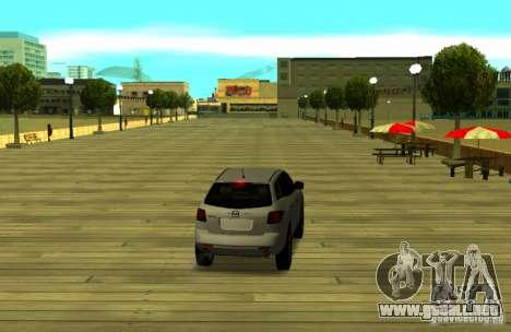 Mazda CX7 para GTA San Andreas vista posterior izquierda