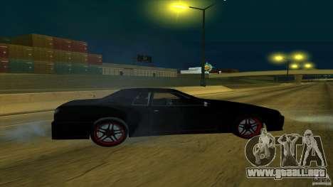 New elegy v1.0 para GTA San Andreas vista posterior izquierda