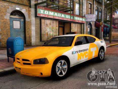 Dodge Charger NYC Taxi V.1.8 para GTA 4 left