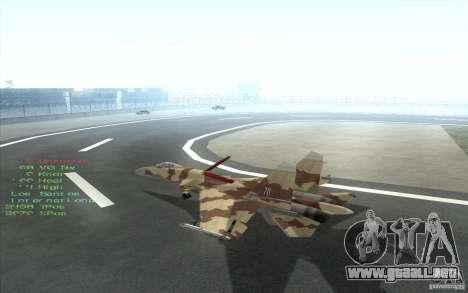 El Su-37 Terminator para visión interna GTA San Andreas