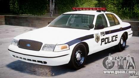 Ford Crown Victoria 2003 FBI Police V2.0 [ELS] para GTA 4 left