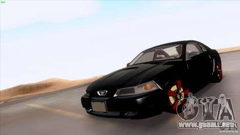 Ford Mustang GT 1999 para las ruedas de GTA San Andreas