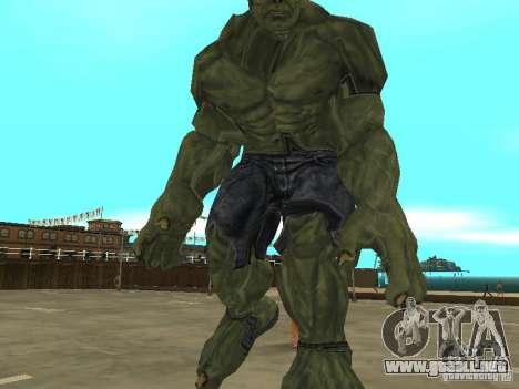 Hulk Skin para GTA San Andreas tercera pantalla