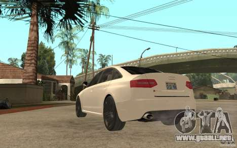 Audi RS6 2009 para GTA San Andreas vista posterior izquierda