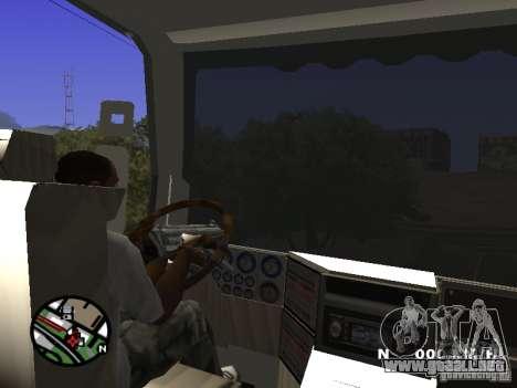 Iveco Stralis para GTA San Andreas vista hacia atrás
