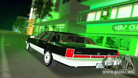 Lincoln Town Car 1997 para GTA Vice City vista lateral izquierdo