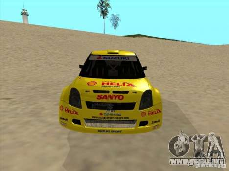 Suzuki Rally Car para GTA San Andreas vista hacia atrás