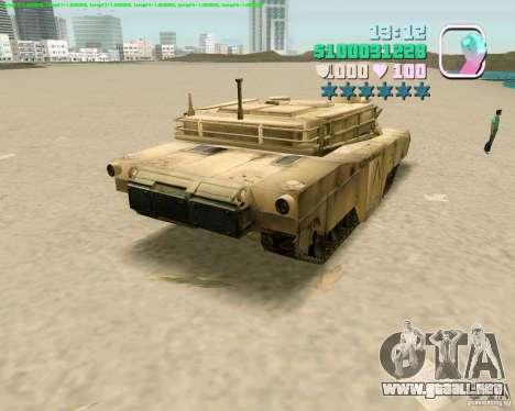 M 1 A2 Abrams para GTA San Andreas vista hacia atrás