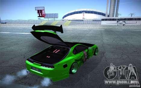 Toyota Supra Tuned para visión interna GTA San Andreas