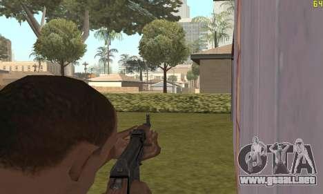 Kalashnikov modernizado para GTA San Andreas sucesivamente de pantalla
