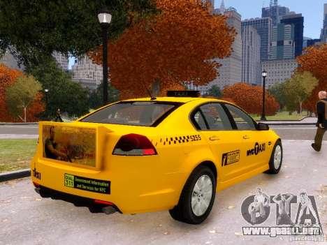 Holden NYC Taxi V.3.0 para GTA 4 left