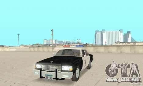 Chevrolet Caprice Interceptor 1986 Police para GTA San Andreas