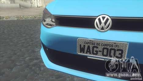 Volkswagen Voyage G6 2013 para GTA San Andreas vista posterior izquierda
