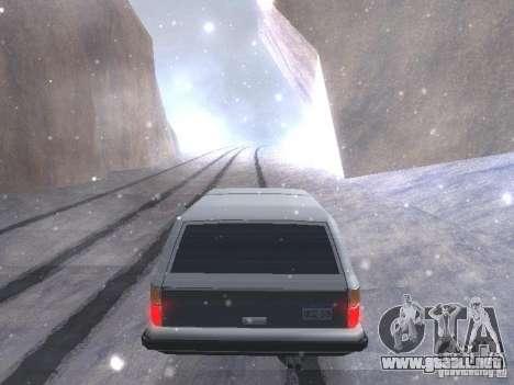Snow MOD HQ V2.0 para GTA San Andreas quinta pantalla
