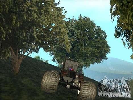 Monsterous Truck para GTA San Andreas vista posterior izquierda