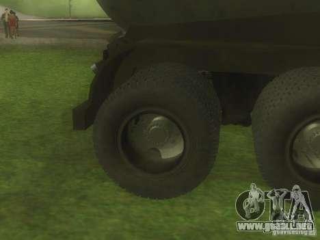 Cemento remolque TC-12 para visión interna GTA San Andreas
