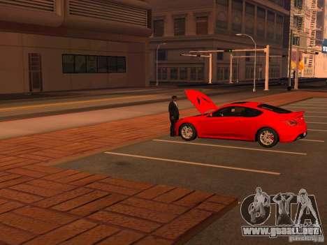 Hyundai Genesis Coupé 3.8 Track v1.0 para vista inferior GTA San Andreas