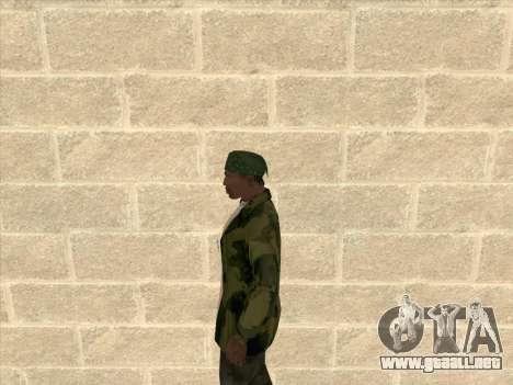 Chaqueta de camuflaje para GTA San Andreas tercera pantalla