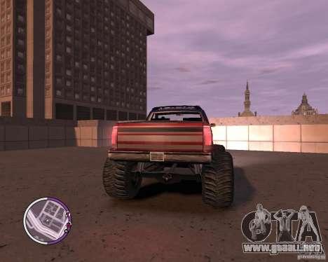 Monster from San Andreas para GTA 4 vista hacia atrás