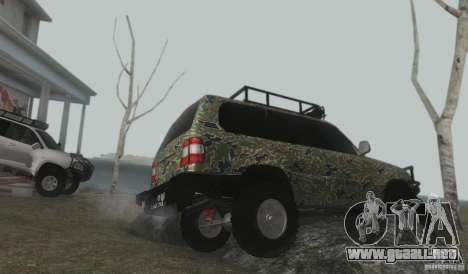 Toyota Land Cruiser 100 Off Road para visión interna GTA San Andreas
