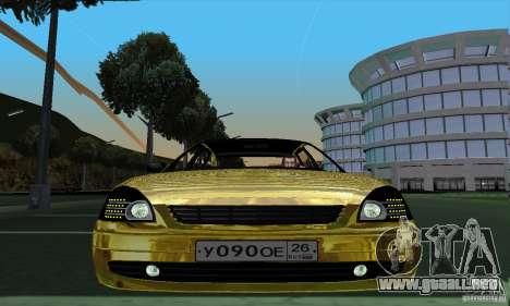 Lada Priora Gold para GTA San Andreas vista posterior izquierda