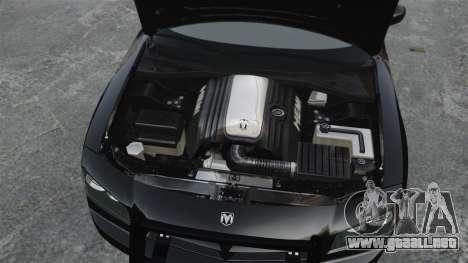 Dodge Charger RT Hemi FBI 2007 para GTA 4 visión correcta