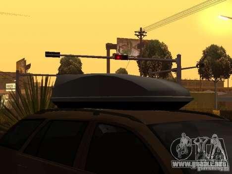 Skoda Octavia para vista inferior GTA San Andreas