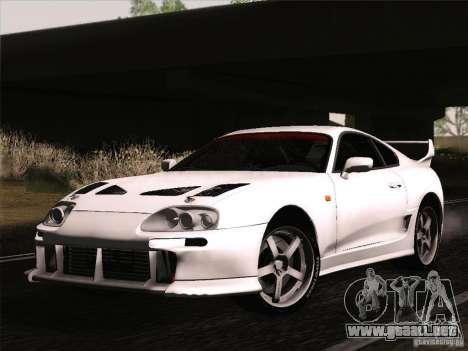Toyota Supra TRD3000GT v2 para visión interna GTA San Andreas