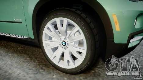 BMW X5 Experience Version 2009 Wheels 223M para GTA 4 vista desde abajo