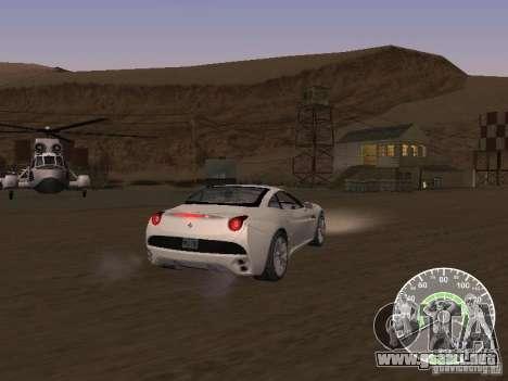 Ferrari California v1 para GTA San Andreas vista posterior izquierda