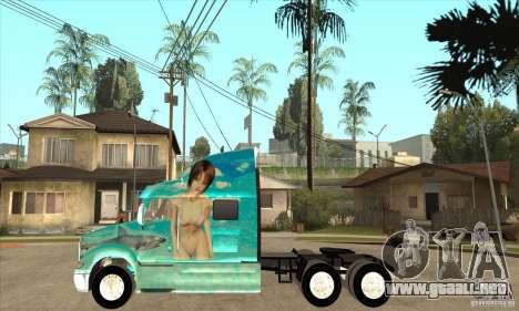 Peterbilt 387 piel 4 para GTA San Andreas left