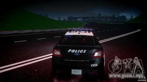 Ford Taurus Police Interceptor 2011 [ELS] para GTA motor 4